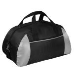 Дорожная сумка Silver Dots, черная с серебристыми элементами