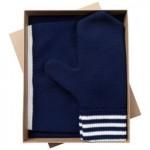 Набор Best: шапка, шарф и варежки, темно-синий