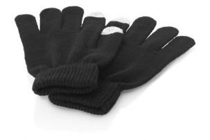 Перчатки для сенсорного экрана S/M, черный