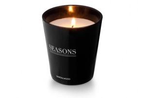 Ароматизированная свеча Lunar от Seasons, черный