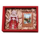 Подарочный набор «Конфетки, бараночки»: кукла декоративная, шоколадные конфеты «Конфаэль»