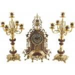 Композиция «Герцог Альба»: интерьерные часы с подсвечниками