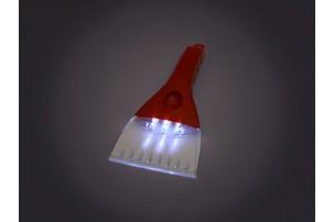 Скребок для очистки стекол автомобиля с подсветкой, красный