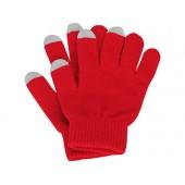 Перчатки для сенсорного экрана, красный, размер S/M
