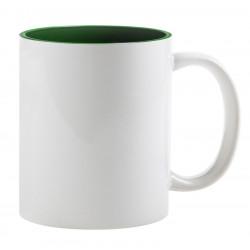 Кружка для сублимации, темно-зеленая внутри