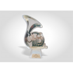 Награда ПВХ с УФ печатью и металлическим шильдом