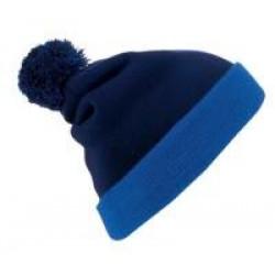 Шапка Breeze, темно-синяя с синим