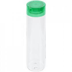 Бутылка для воды Aroundy, прозрачная с зеленой крышкой