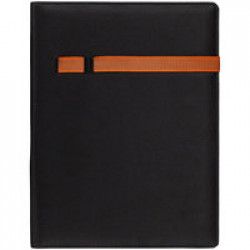 Папка Torga, черная с оранжевым