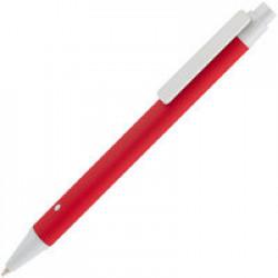 Ручка шариковая Button Up, красная с белым