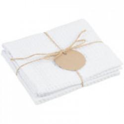 Набор кухонных полотенец Good Wipe, белый с белым