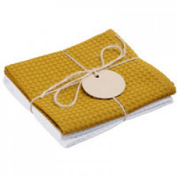 Набор кухонных полотенец Good Wipe, белый с желтым
