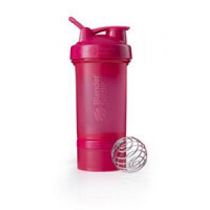 Спортивный шейкер с контейнером ProStak, розовый (малиновый)