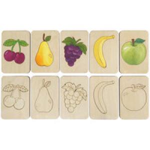 Карточки-раскраски Wood Games, фрукты