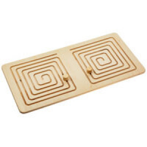 Межполушарная доска Wood Games, квадратная спираль