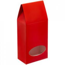 Коробка с окном English Breakfast, красная