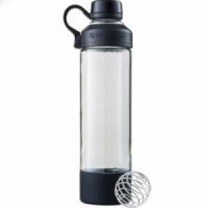 Спортивная бутылка-шейкер Mantra, черная
