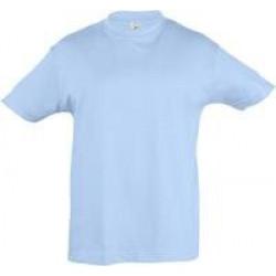 Футболка детская REGENT KIDS 150 голубая, на рост 96-104 см (4 года)