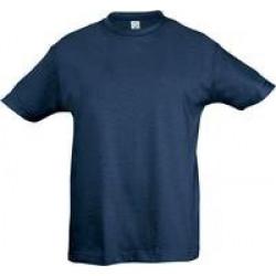 Футболка детская REGENT KIDS 150 синий джинс, на рост 96-104 см (4 года)