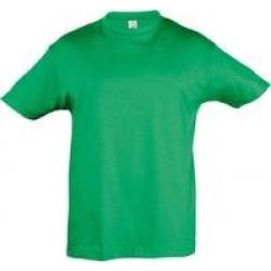Футболка детская REGENT KIDS 150 ярко-зеленая, на рост 96-104 см (4 года)