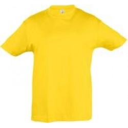 Футболка детская REGENT KIDS 150 желтая, на рост 96-104 см (4 года)