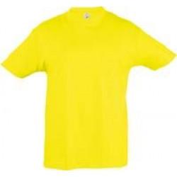 Футболка детская REGENT KIDS 150 желтая (лимонная), на рост 96-104 см (4 года)