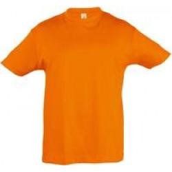 Футболка детская REGENT KIDS 150 оранжевая, на рост 96-104 см (4 года)
