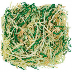 Бумажный наполнитель Chip Mix, зеленый с бежевым