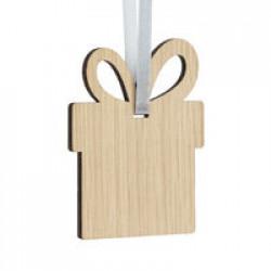Деревянная подвеска Carving Oak, в форме подарка