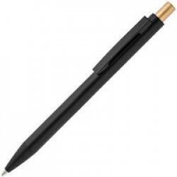 Ручка шариковая Chromatic, черная с золотистым