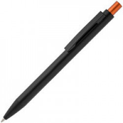 Ручка шариковая Chromatic, черная с оранжевым