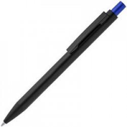 Ручка шариковая Chromatic, черная с синим