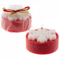 Свеча «Снежинка», красная
