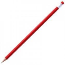 Карандаш простой Triangle с ластиком, красный