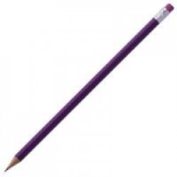 Карандаш простой Triangle с ластиком, фиолетовый