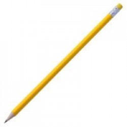 Карандаш простой Triangle с ластиком, желтый