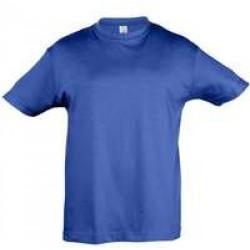Футболка детская REGENT KIDS 150 ярко-синяя, на рост 96-104 см (4 года)