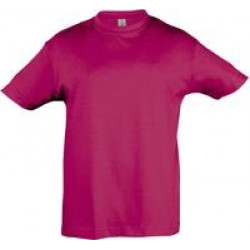 Футболка детская REGENT KIDS 150 ярко-розовая (фуксия), на рост 96-104 см (4 года)