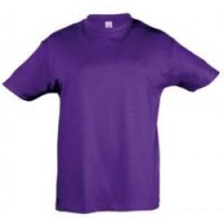Футболка детская REGENT KIDS 150 фиолетовая, на рост 96-104 см (4 года)