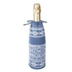 Чехол для шампанского «Скандик», синий (индиго)