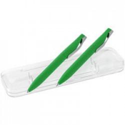Набор Pin Soft Touch: ручка и карандаш, зеленый