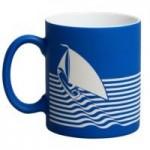 Кружка Sea с покрытием софт-тач и гравировкой, синяя