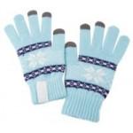 Сенсорные перчатки Snowflake, голубые