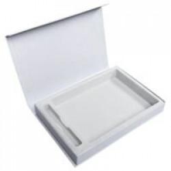 Коробка Silk под ежедневник и ручку, серебристая