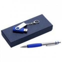 Набор Notes: ручка и флешка 8 Гб, синий