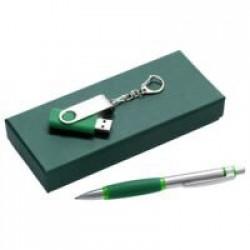 Набор Notes: ручка и флешка 8 Гб, зеленый