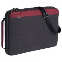Конференц-сумка 2 в 1 twoFold, серая с бордовым