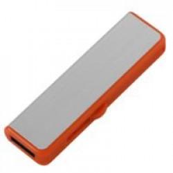 Флешка Ferrum, серебристая с оранжевым, 8 Гб