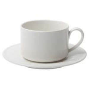 Чайная пара Maxim Diamond, молочно-белая