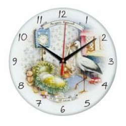 Часы настенные стеклянные Time Wheel